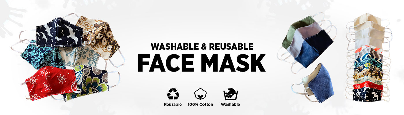 cotton reusable washable mask